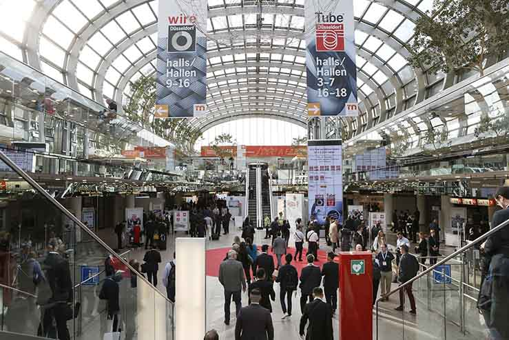 wire 2018 and Tube 2018: order intake at wire, cable and tube trade fairs as good as in years