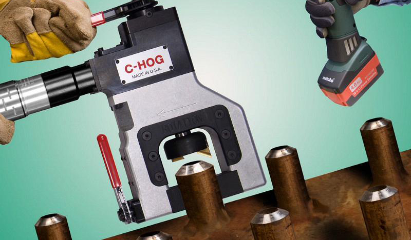 Esco Tool's Tube Weasel and C-Hog beveling tools provide ID, OD clamping
